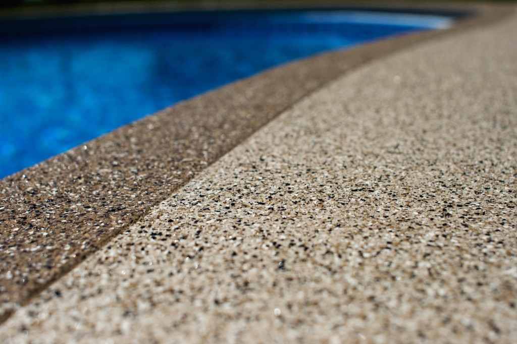 Closeup of Decorative Concrete